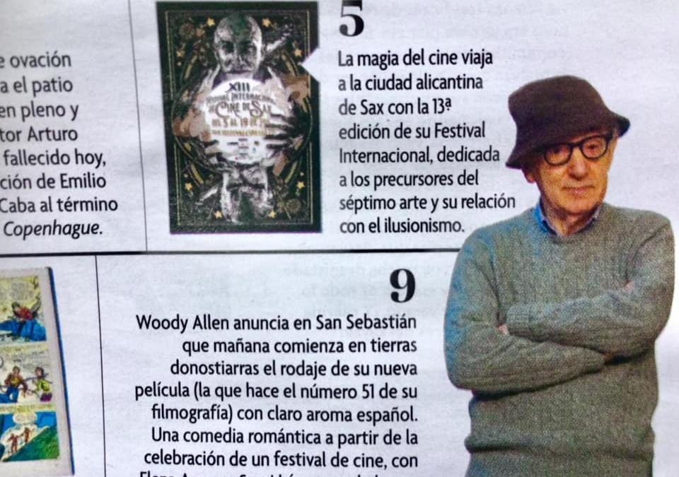 Nuestro festival comparte espacio con Woody Allen en la revista Fotogramas de agosto