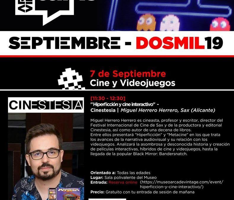 """Hiperficción y cine interactivo"""" por Miguel Herrero Herrero en el Museo de Videojuegos"""