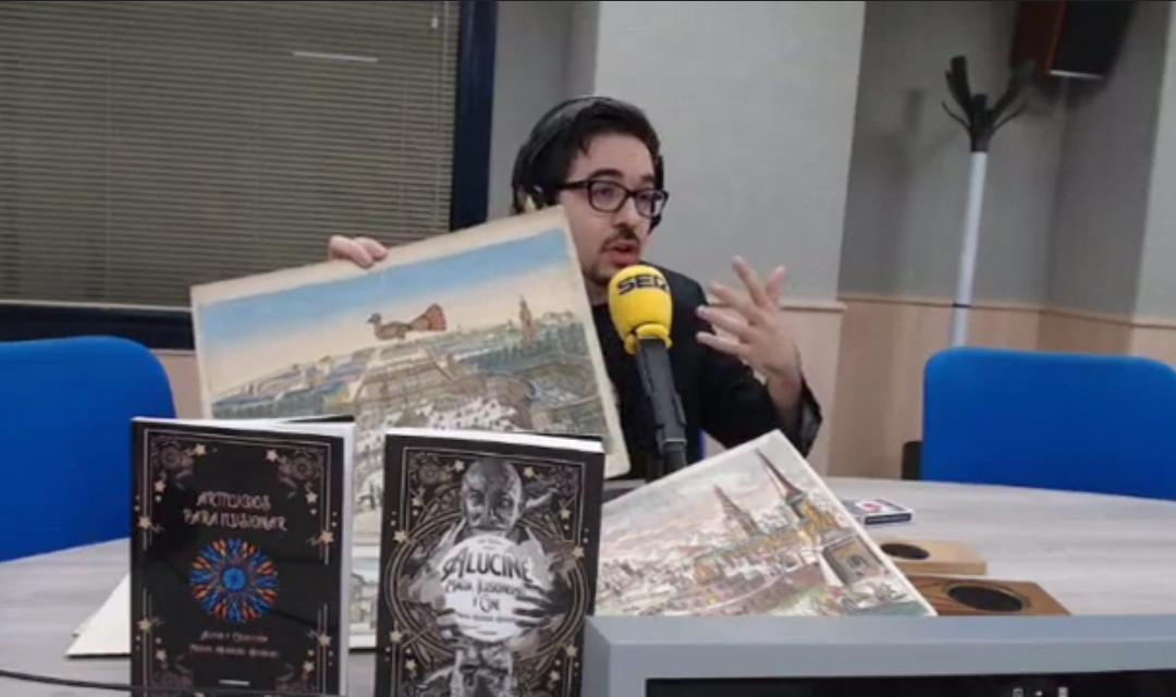 Nos entrevistan en Radio Elda Cadena Ser por nuestras obras sobre magia y cine.