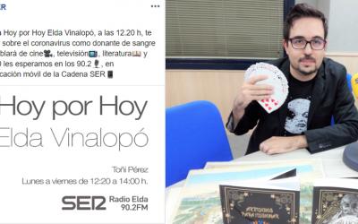 """Espacio de """"Cultura de cuarentena"""" por Miguel Herrero Herrero  en Radio Elda Cadena SER (90.2 FM)"""